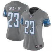 Wholesale Cheap Nike Lions #23 Darius Slay Jr Gray Women's Stitched NFL Limited Rush Jersey