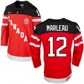 Wholesale Cheap Olympic CA. #12 Patrick Marleau Red 100th Anniversary Stitched NHL Jersey