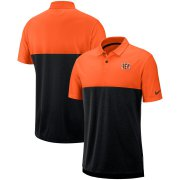 Wholesale Cheap Cincinnati Bengals Nike Sideline Early Season Performance Polo Orange Black