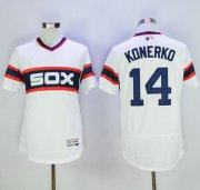 Wholesale Cheap White Sox #14 Paul Konerko White Flexbase Authentic Collection Alternate Home Stitched MLB Jersey