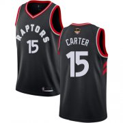 Wholesale Cheap Raptors #15 Vince Carter Black 2019 Finals Bound Basketball Swingman Statement Edition Jersey