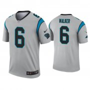 Wholesale Cheap Men's Carolina Panthers #6 P.J. Walker Silver Inverted Legend Nike Jersey