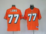 Wholesale Cheap Dolphins Jake Long #77 Orange Stitched NFL Jersey