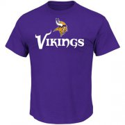 Wholesale Cheap Minnesota Vikings Majestic Critical Victory T-Shirt Purple