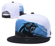 Wholesale Cheap Panthers Team Logo White Black Adjustable Hat GS