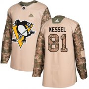 Wholesale Cheap Adidas Penguins #81 Phil Kessel Camo Authentic 2017 Veterans Day Stitched Youth NHL Jersey