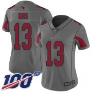 Wholesale Cheap Nike Cardinals #13 Christian Kirk Silver Women's Stitched NFL Limited Inverted Legend 100th Season Jersey
