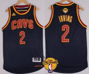 Wholesale Cheap Men's Cleveland Cavaliers #2 Kyrie Irving 2017 The NBA Finals Patch Navy Blue Jersey