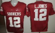 Wholesale Cheap Oklahoma Sooners #12 Landy Jones Red Jersey