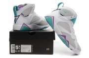 Wholesale Cheap WMNS Air Jordan 7 GS Shoes White/blue-purple