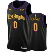Wholesale Cheap Nike Lakers #0 Kyle Kuzma Black 2020 Latin Nights NBA Swingman Jersey