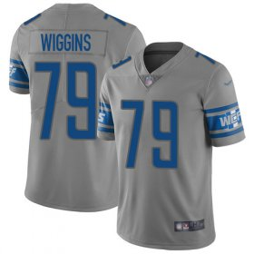 Wholesale Cheap Nike Lions #79 Kenny Wiggins Gray Youth Stitched NFL Limited Inverted Legend Jersey