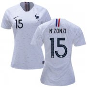 Wholesale Cheap Women's France #15 N'Zonzi Away Soccer Country Jersey
