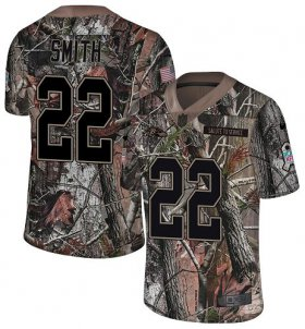 Wholesale Cheap Nike Ravens #22 Jimmy Smith Camo Men\'s Stitched NFL Limited Rush Realtree Jersey