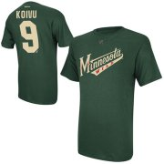 Wholesale Cheap Minnesota Wild #9 Mikko Koivu Reebok Name and Number Player T-Shirt Green