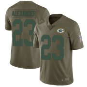 Wholesale Cheap Nike Packers #23 Jaire Alexander Olive Youth Stitched NFL Limited 2017 Salute to Service Jersey