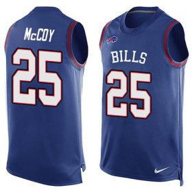 Wholesale Cheap Nike Bills #25 LeSean McCoy Royal Blue Team Color Men\'s Stitched NFL Limited Tank Top Jersey