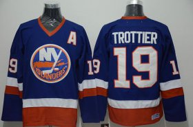 Wholesale Islanders #19 Bryan Trottier Stitched Baby Blue CCM Throwback NHL Jersey