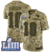 Wholesale Cheap Nike Patriots #10 Josh Gordon Camo Super Bowl LIII Bound Men's Stitched NFL Limited 2018 Salute To Service Jersey