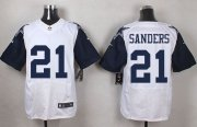 Wholesale Cheap Nike Cowboys #21 Deion Sanders White Men's Stitched NFL Elite Rush Jersey