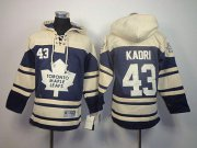 Wholesale Cheap Maple Leafs #43 Nazem Kadri Blue Sawyer Hooded Sweatshirt Stitched Youth NHL Jersey