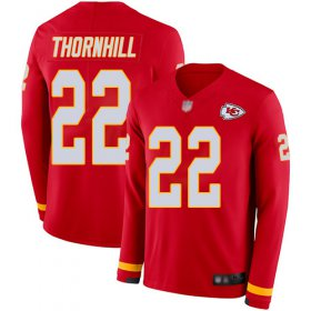 Wholesale Cheap Nike Chiefs #22 Juan Thornhill Red Team Color Men\'s Stitched NFL Limited Therma Long Sleeve Jersey
