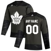 Wholesale Cheap Toronto Maple Leafs Adidas 2019 Veterans Day Authentic Custom Practice NHL Jersey Camo