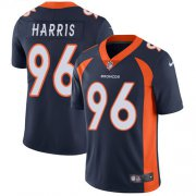 Wholesale Cheap Nike Broncos #96 Shelby Harris Navy Blue Alternate Men's Stitched NFL Vapor Untouchable Limited Jersey