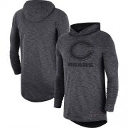 Wholesale Cheap Nike Chicago Bears Heathered Charcoal Fan Gear Tonal Slub Hooded Long Sleeve T-Shirt