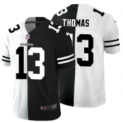 Cheap New Orleans Saints #13 Michael Thomas Men's Black V White Peace Split Nike Vapor Untouchable Limited NFL Jersey