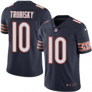 Wholesale Cheap Nike Bears #10 Mitchell Trubisky Navy Blue Team Color Youth Stitched NFL Vapor Untouchable Limited Jersey