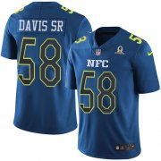 Wholesale Cheap Nike Panthers #58 Thomas Davis Sr Navy Men's Stitched NFL Limited NFC 2017 Pro Bowl Jersey