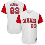 Wholesale Cheap Team Canada #63 Chris Leroux White 2017 World MLB Classic Authentic Stitched MLB Jersey