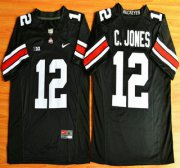 Wholesale Cheap Ohio State Buckeyes #12 Cardale Jones Black 2015 College Football Nike Limited Jersey