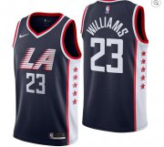 Wholesale Cheap Clippers 23 Lou Williams Navy 2018-19 City Edition Nike Swingman Jersey