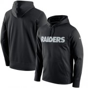 Wholesale Cheap Men's Las Vegas Raiders Nike Black Circuit Wordmark Essential Performance Pullover Hoodie