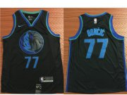 Wholesale Cheap Nike Dallas Mavericks #77 Luka Doncic Black 2018-19 NBA Swingman City Edition Jersey