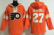Wholesale Cheap Philadelphia Flyers #27 Ron Hextall Orange Pullover NHL Hoodie