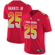 Wholesale Cheap Nike Broncos #25 Chris Harris Jr Red Men's Stitched NFL Limited AFC 2019 Pro Bowl Jersey
