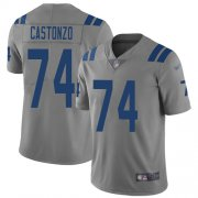 Wholesale Cheap Nike Colts #74 Anthony Castonzo Gray Youth Stitched NFL Limited Inverted Legend Jersey