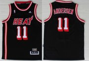 Wholesale Cheap Miami Heat #11 Chris Andersen ABA Hardwood Classics Swingman Black Jersey