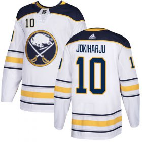 Wholesale Cheap Adidas Sabres #10 Henri Jokiharju White Road Authentic Stitched Youth NHL Jersey