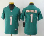 Wholesale Cheap Youth Miami Dolphins #1 Tua Tagovailoa Green 2020 Vapor Untouchable Stitched NFL Nike Limited Jersey