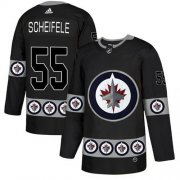 Wholesale Cheap Adidas Jets #55 Mark Scheifele Black Authentic Team Logo Fashion Stitched NHL Jersey