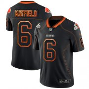 Wholesale Cheap Nike Browns #6 Baker Mayfield Lights Out Black Men's Stitched NFL Limited Rush Jersey
