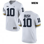 Wholesale Cheap Devin Bush Jordan #10 White Michigan Wolverines Stitched Authentic Mens College Football Jersey
