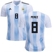 Wholesale Cheap Argentina #8 Perez Home Soccer Country Jersey