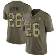 Wholesale Cheap Nike Eagles #26 Jay Ajayi Olive/Camo Men's Stitched NFL Limited 2017 Salute To Service Jersey