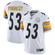 Wholesale Cheap Nike Steelers #53 Maurkice Pouncey White Men's Stitched NFL Vapor Untouchable Limited Jersey