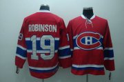 Wholesale Cheap Canadiens #19 Larry Robinson Stitched Red CH CCM Throwback NHL Jersey